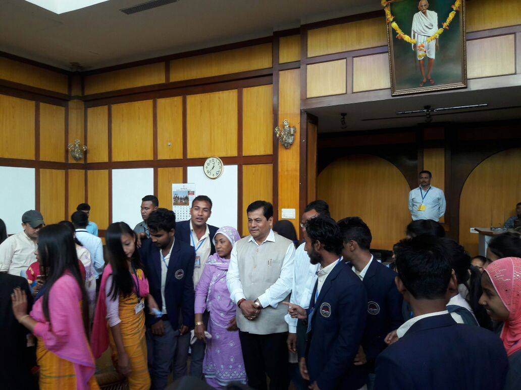 With CM Assam